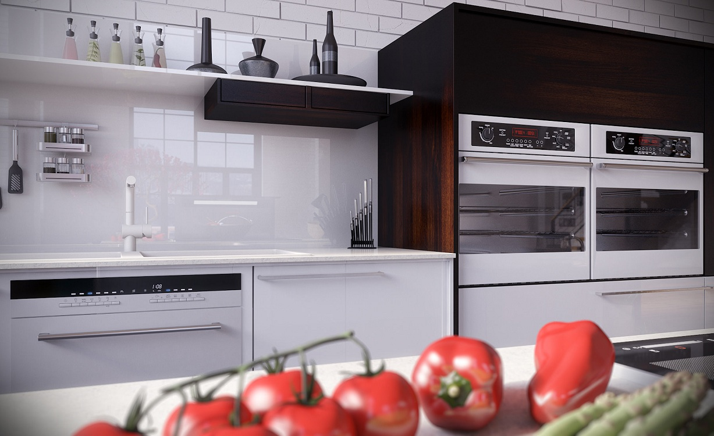 Фартук из поликарбоната на кухне