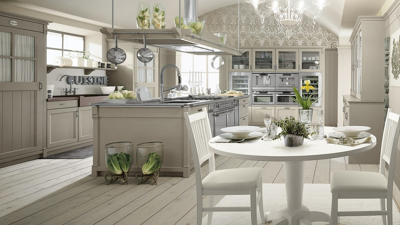 Характерные цвета для кухонь в английском стиле