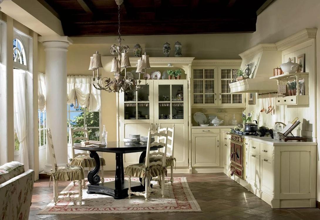 Классический вариант кухни в итальянском стиле