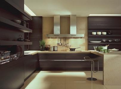 Дизайн коричневой кухни в интерьере