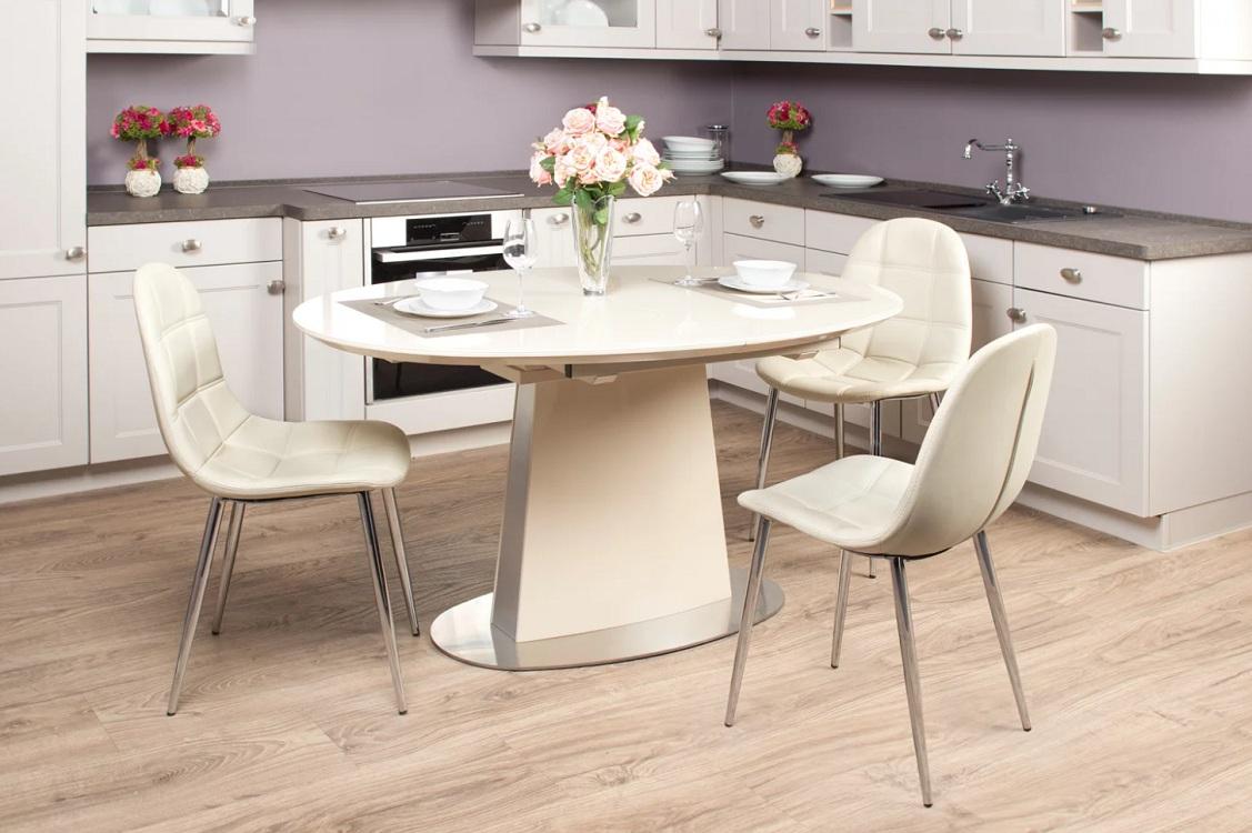 Круглый пластиковый стол на кухню