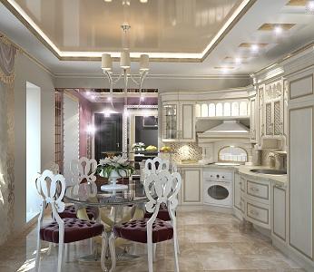 Кухни в стиле арт-деко
