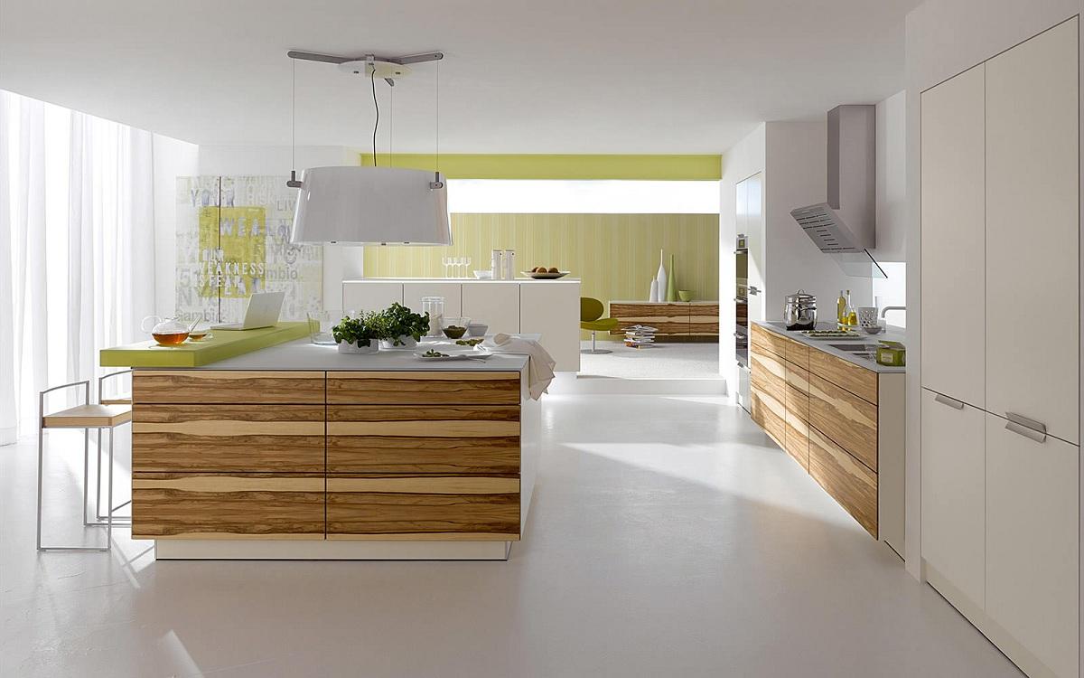 Кухня с островом в качестве дополнительной рабочей поверхности