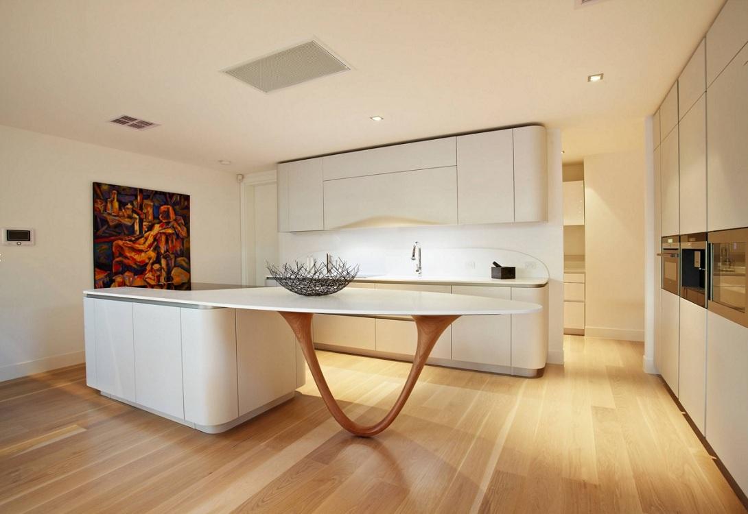 Кухня с островом в современном стиле