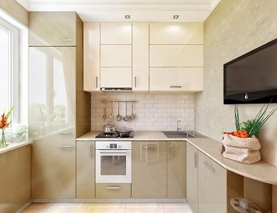 Дизайн маленькой кухни в брежневке, лайфхак как из нее сделать кухню-гостиную