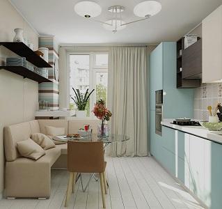 Кухня в форме квадрата
