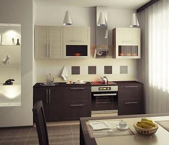 Кухня в стиле венге