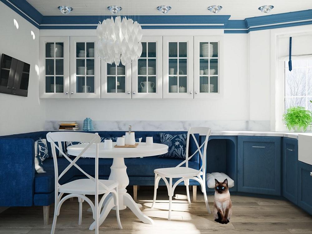 Мебель для кухни в морском стиле