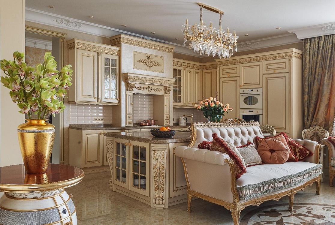 Мебель для кухни в стиле барокко