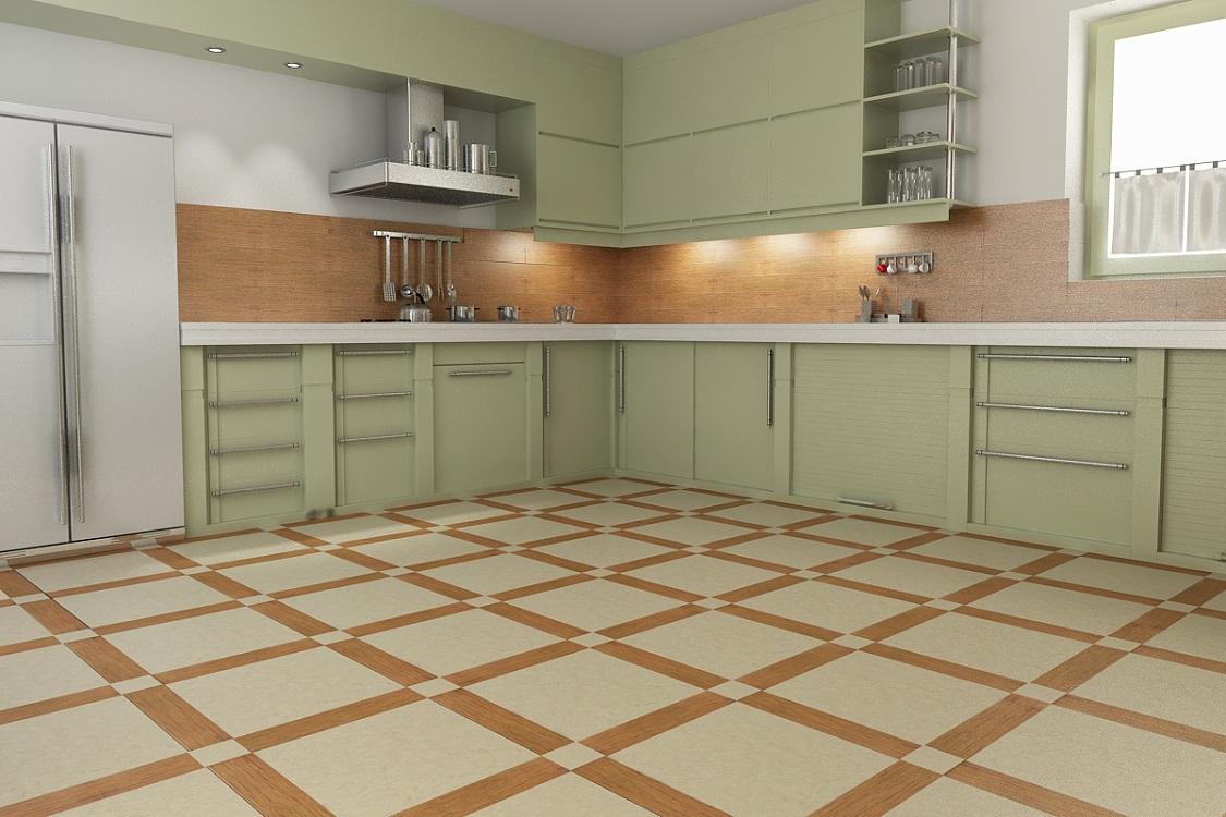 Натуральный линолеум для кухни