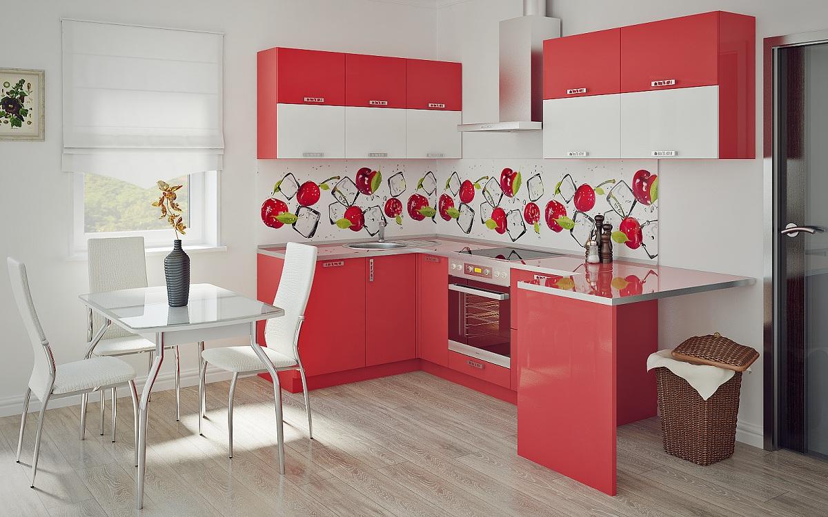 Обеденный комплект для красно-белой кухни