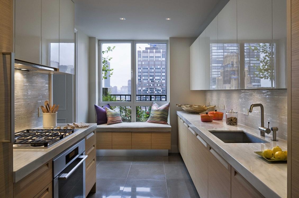 Варианты размещения мебели на кухне 8 метров