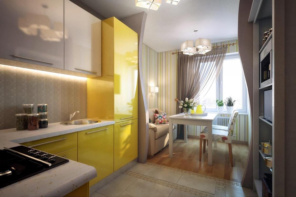 Обустройство маленькой кухни-гостиной