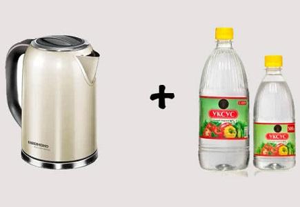 Очистить чайник от накипи уксусом