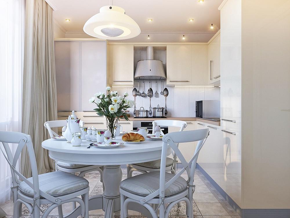 Оптимальные размеры для круглого кухонного стола