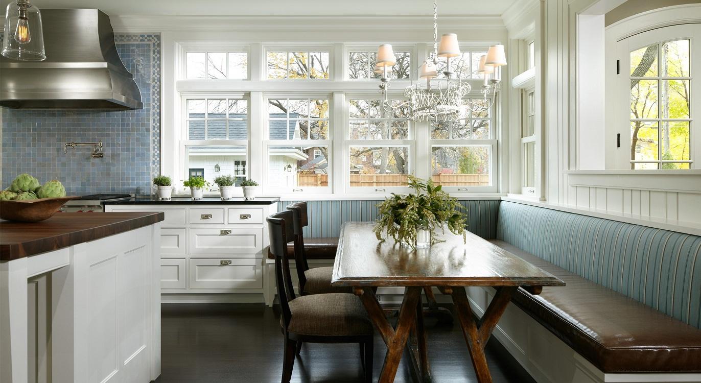 Оптимальный размер углового дивана для кухни