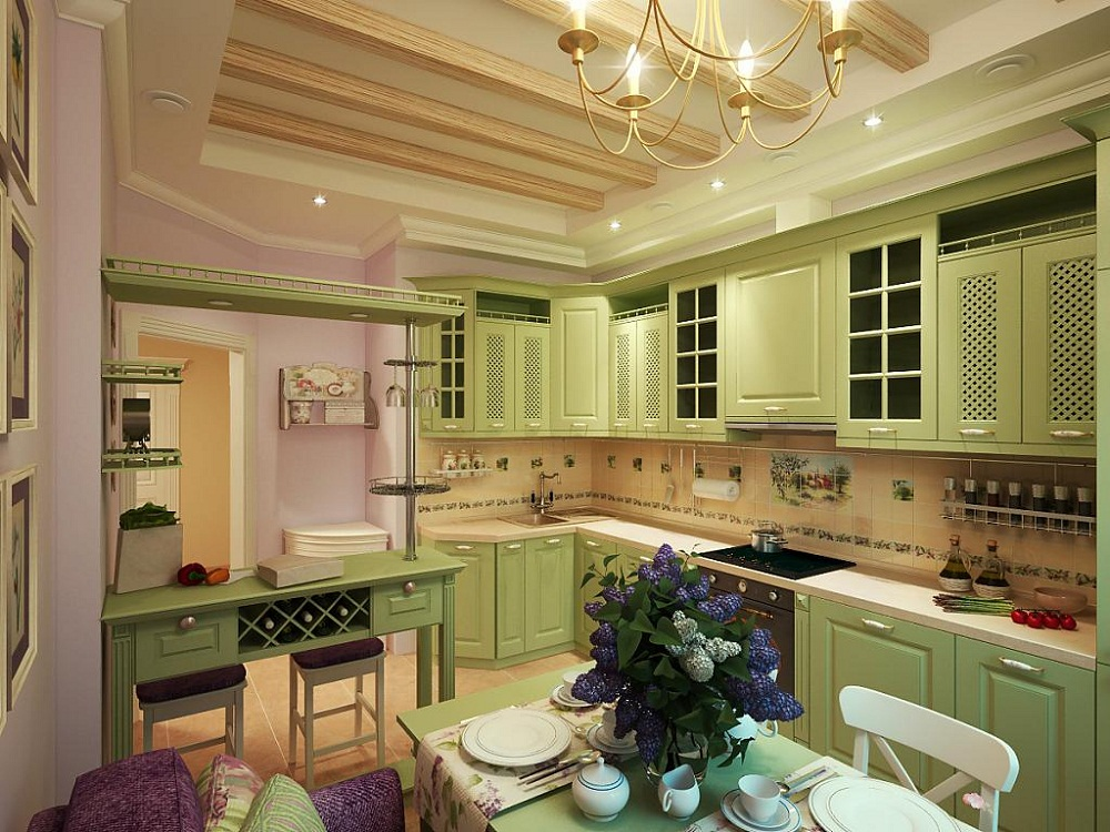 Особенности интерьера кухни в оливковом цвете