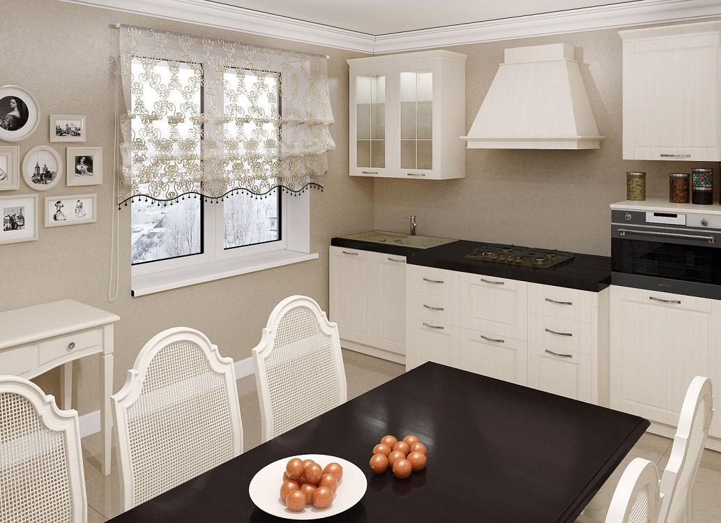 Особенности выбора римских штор на кухню