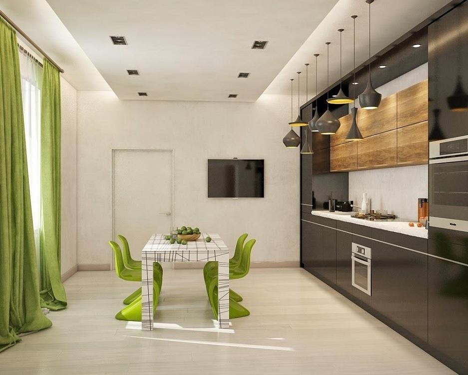 Освещение для кухни в стиле хай-тек
