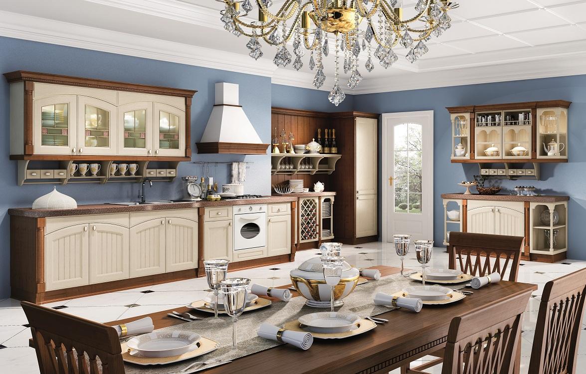 Освещение и аксессуары на кухне в итальянском стиле
