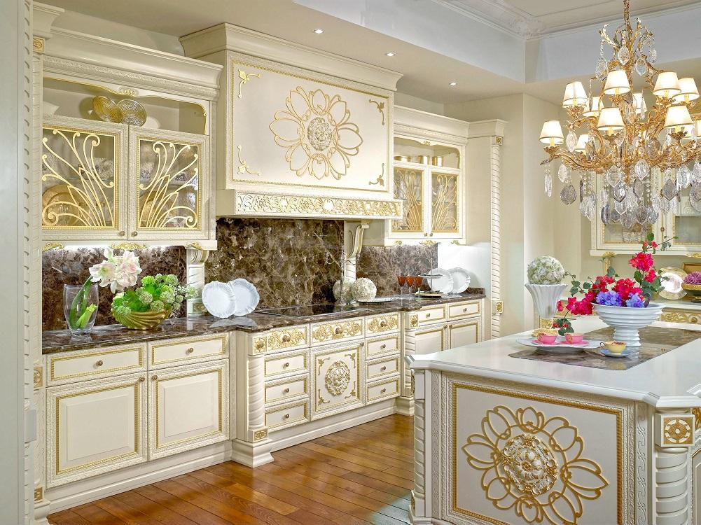 Освещение на кухне в стиле барокко