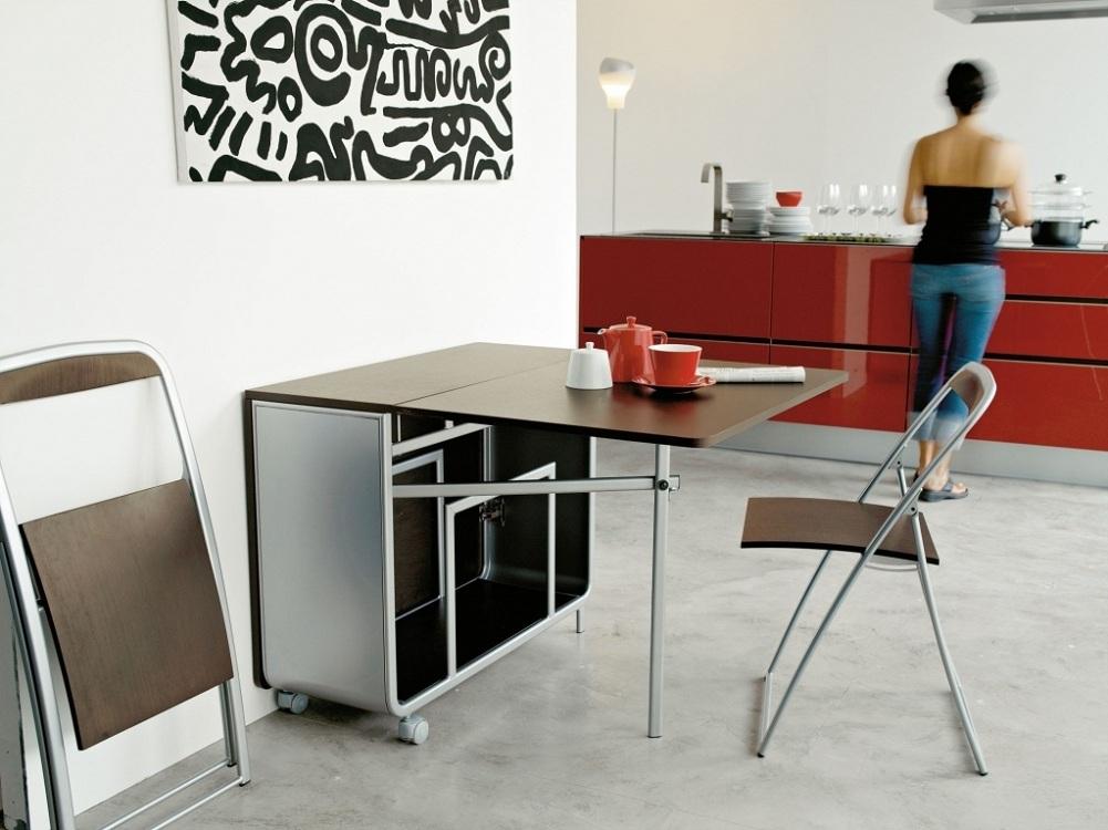 Передвижной стол для маленькой кухни