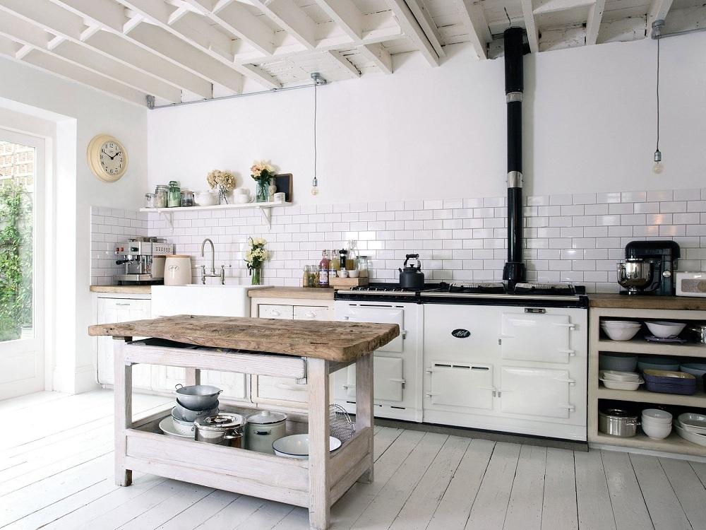 Плитка кабанчик для кухни в стиле лофт