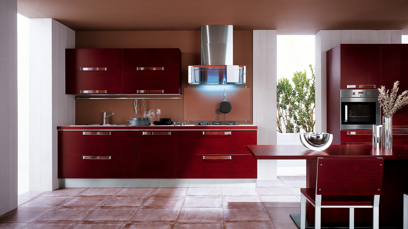 Плюсы и минусы бордового цвета на кухне