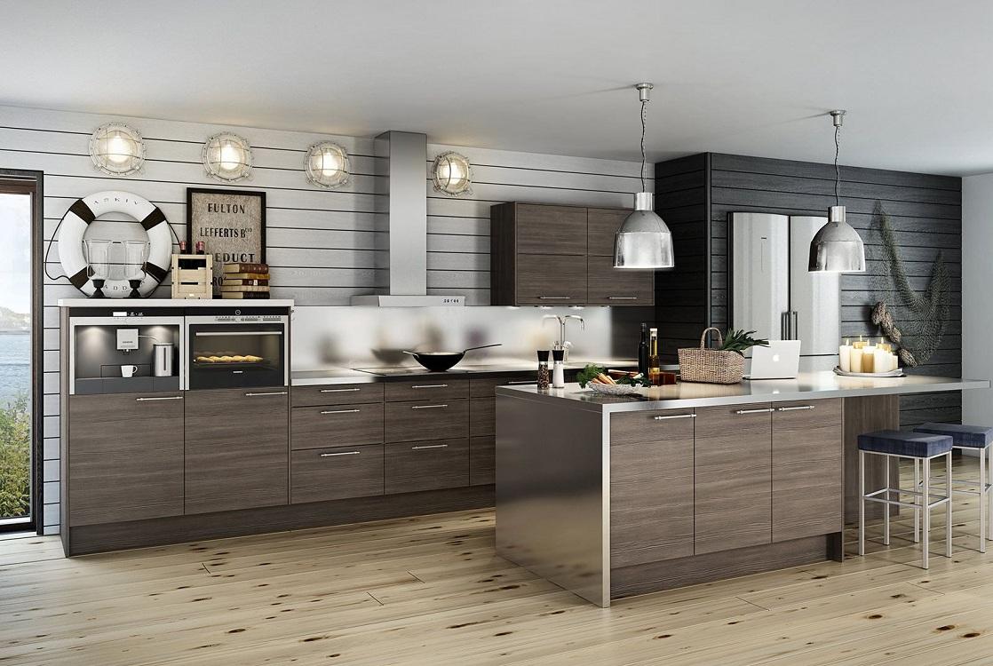 Пол на кухне в морском стиле