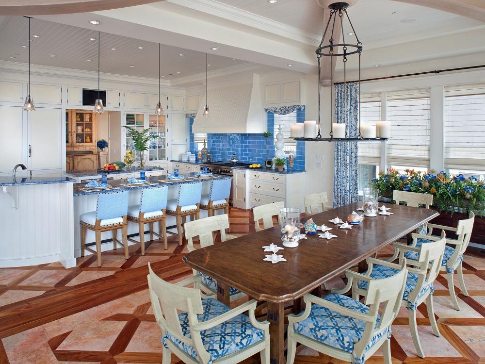 Потолок на кухне в морском стиле