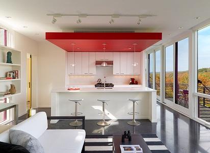 Одноуровневые, двухуровневые, многоуровневые и комбинированные потолки на кухню из гипсокартона