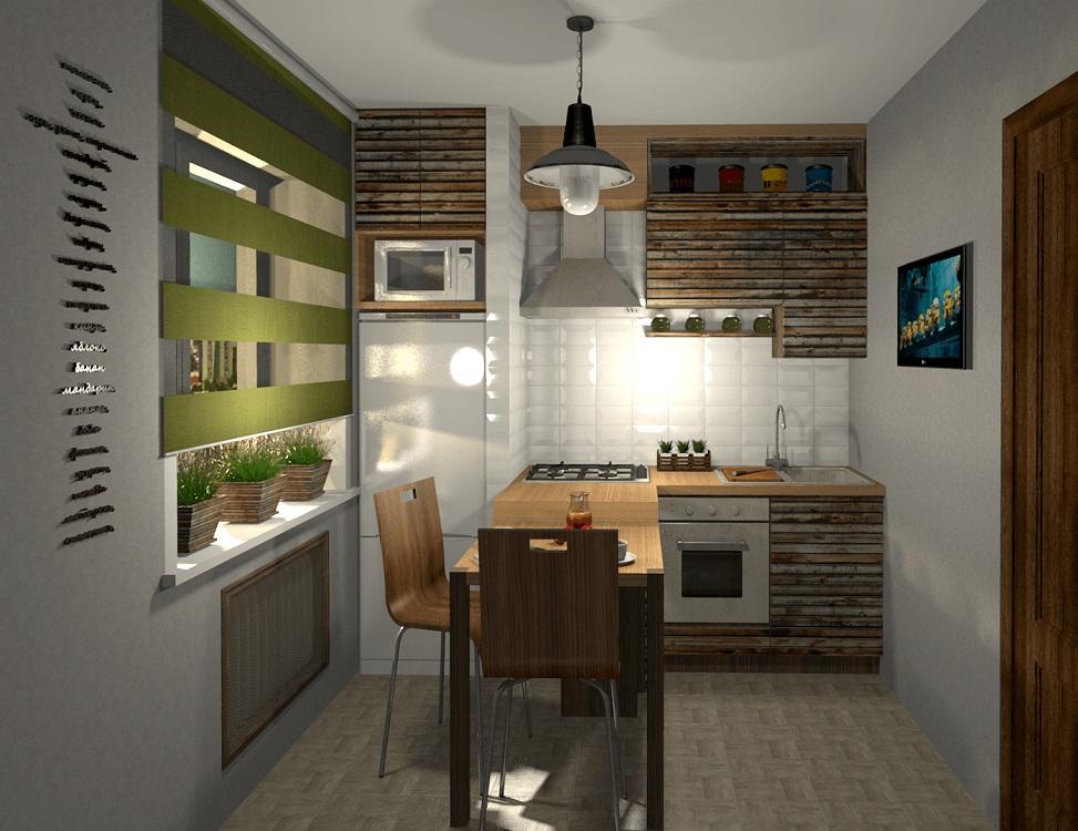 Расположение холодильника на кухне в брежневке