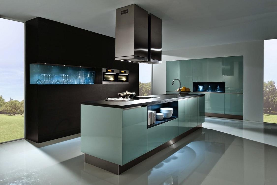 Расстояние между кухней и островом