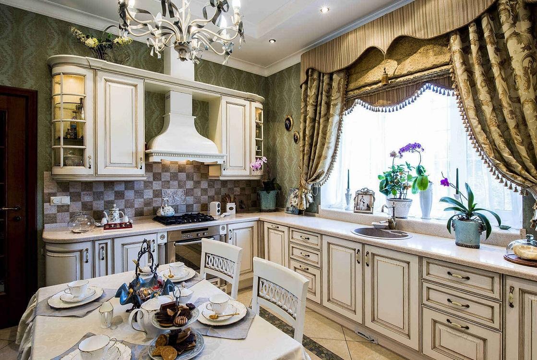 Римские шторы на кухне в разных стилях интерьера