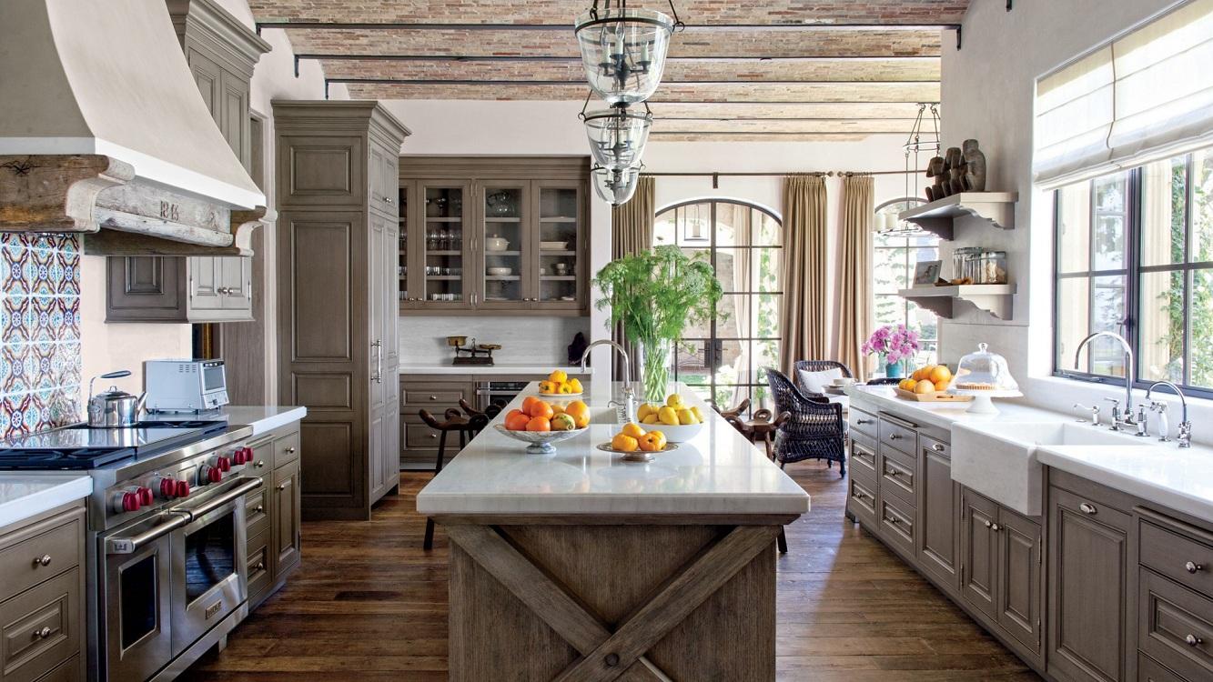 Системы хранения на кухне в стиле кантри