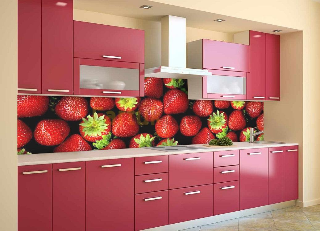Скинали для красной кухни