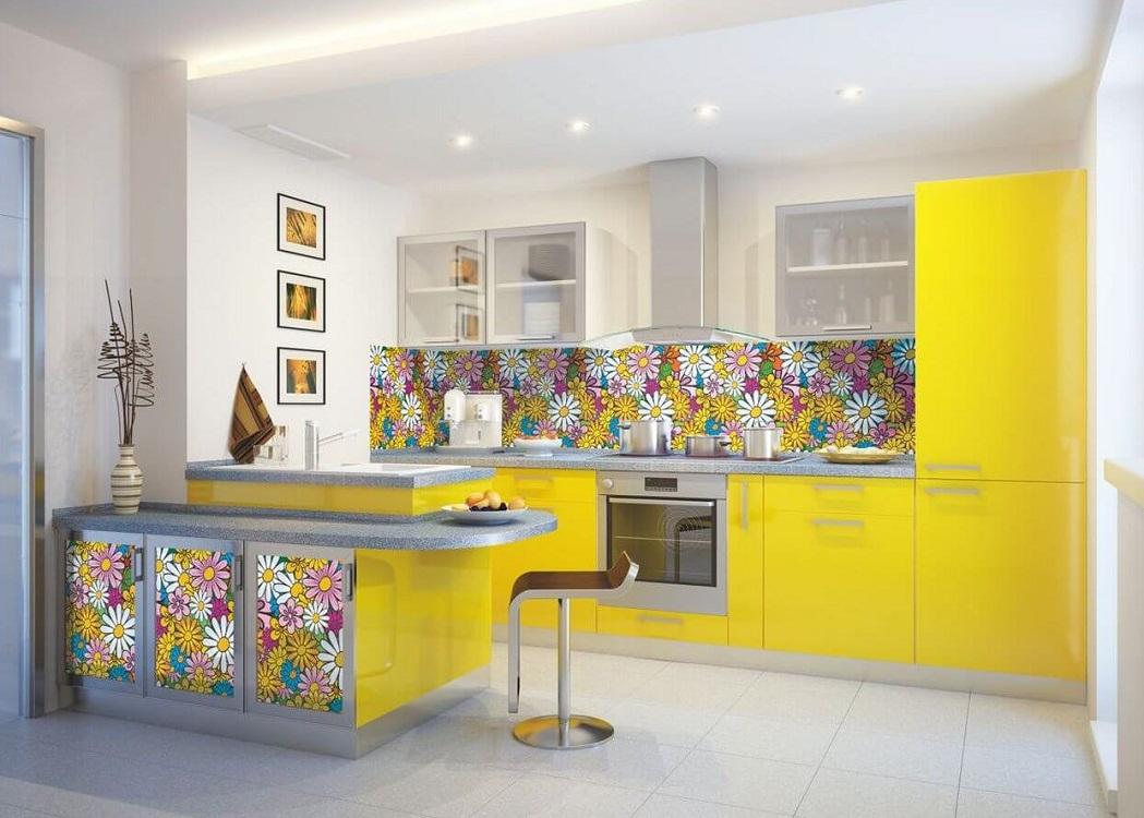Скинали для желтой кухни