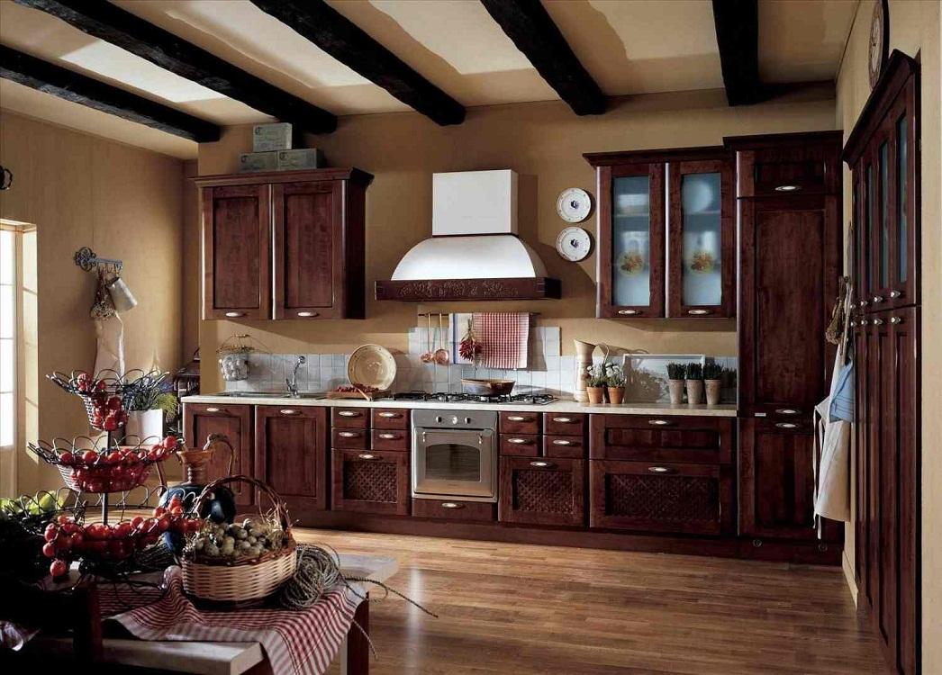 Стены на кухне в итальянском стиле