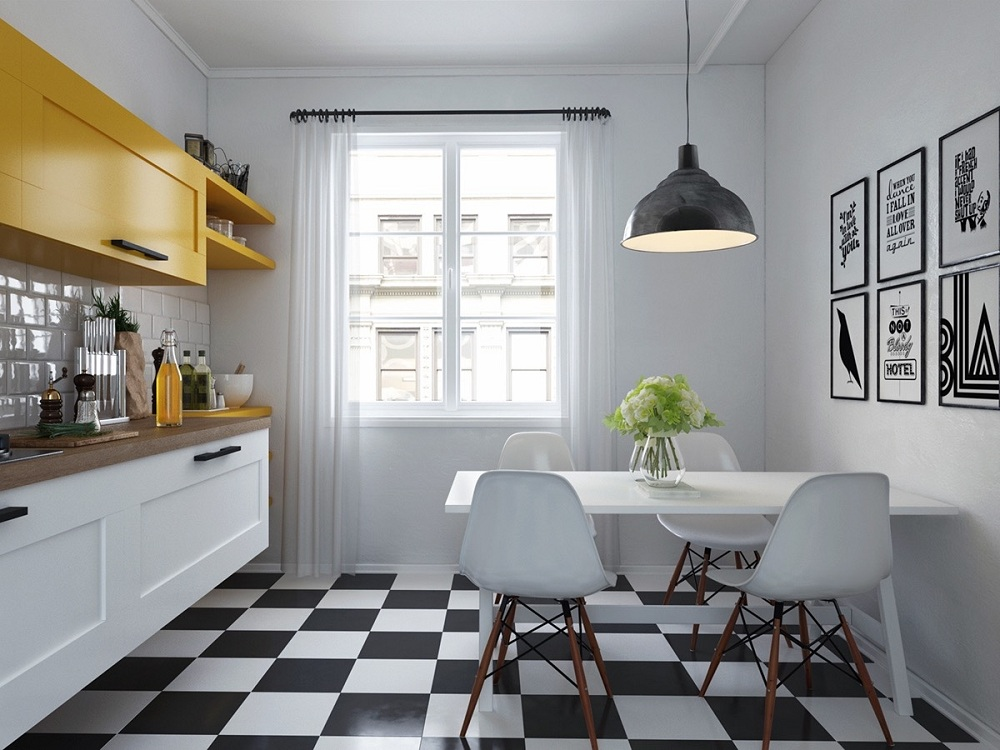 Стены на кухне в скандинавском стиле
