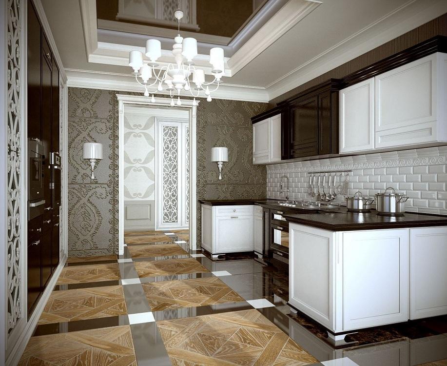Стены на кухне в стиле арт-деко