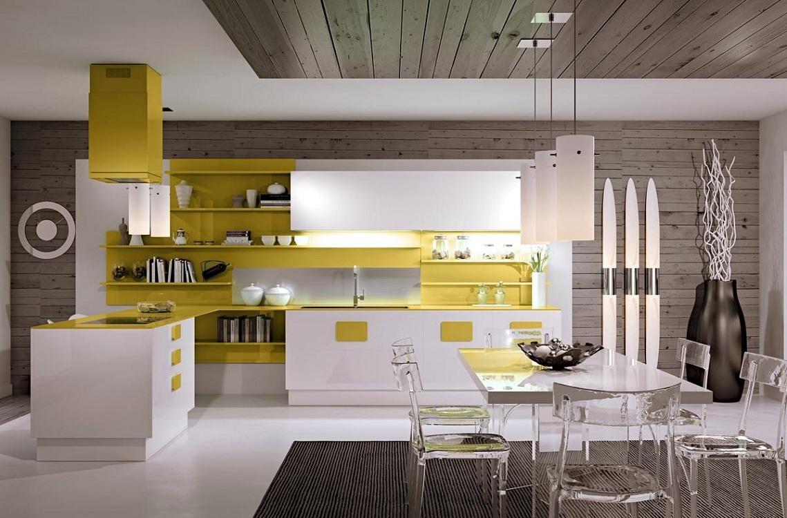 Стены на кухне в стиле хай-тек