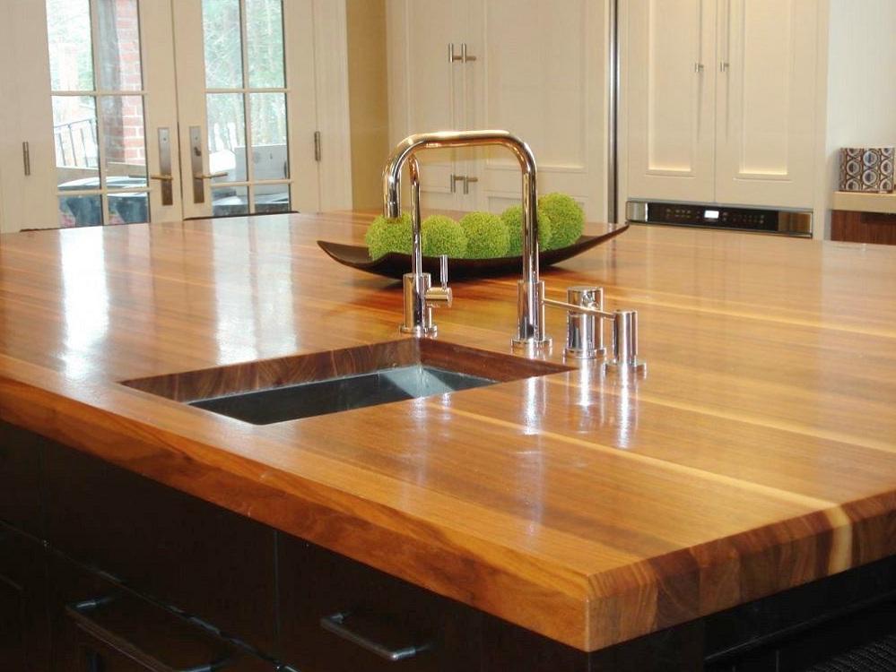 Столешница из мебельного щита для кухни