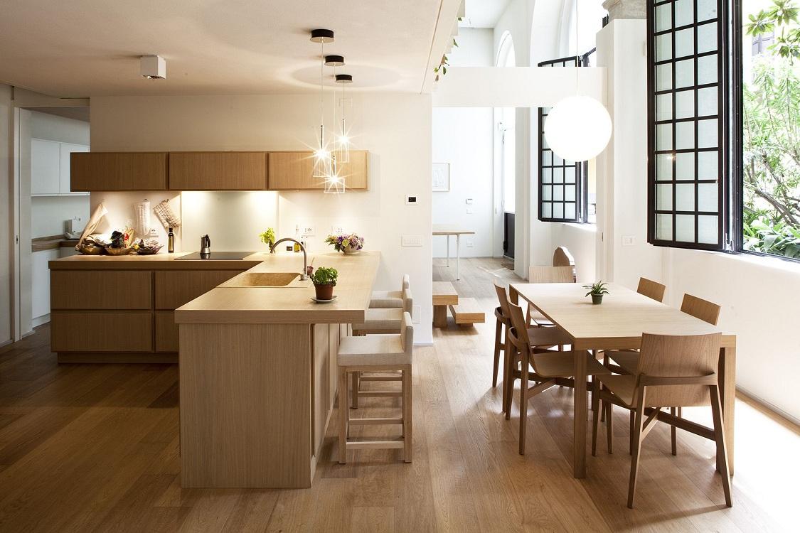 Столовая зона на идеальной кухне