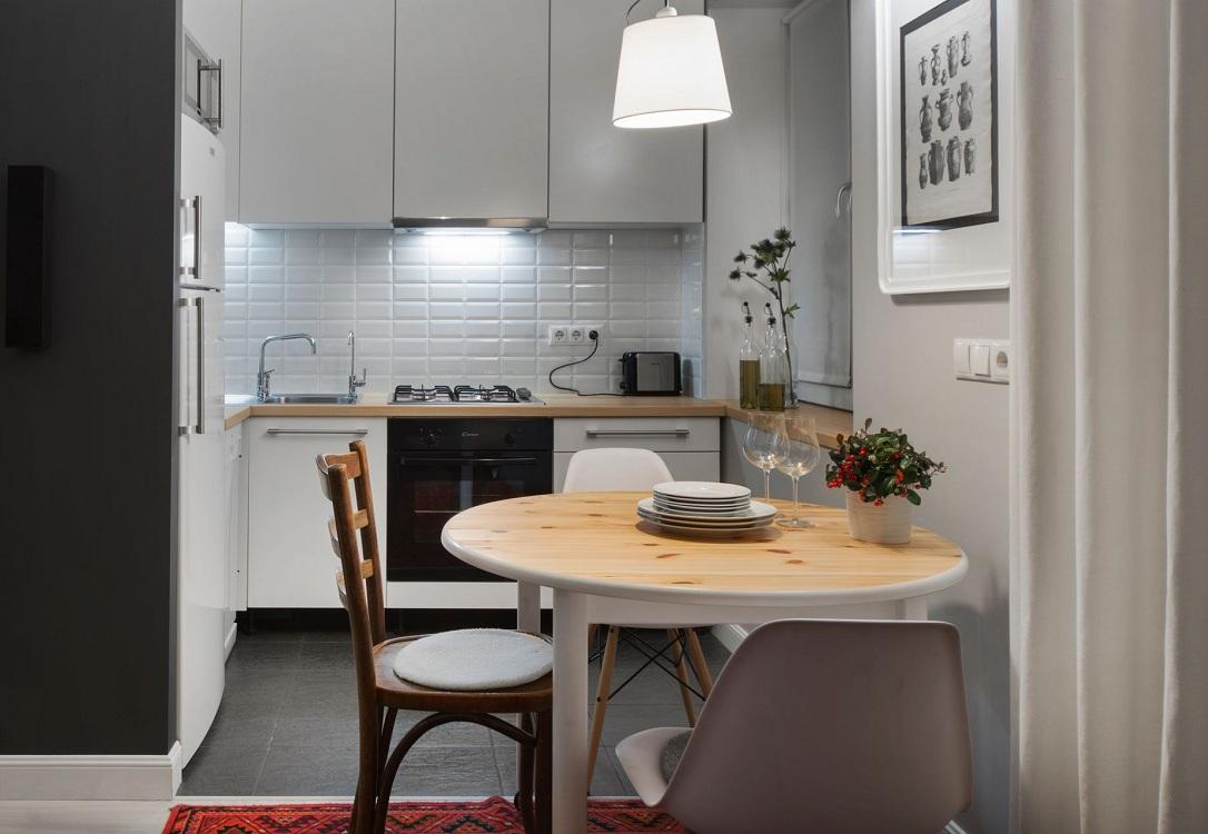 Угловая кухня 5 квадратных метров