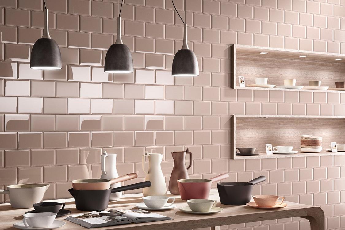 Плитка кабанчик в интерьере кухни, советы по укладке и уходу