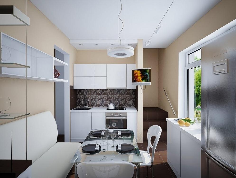 Выбор кухонного гарнитура для маленькой кухни