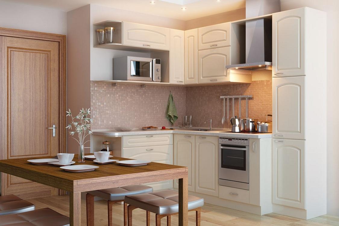 Выбор кухонного гарнитура по фасаду для маленькой кухни