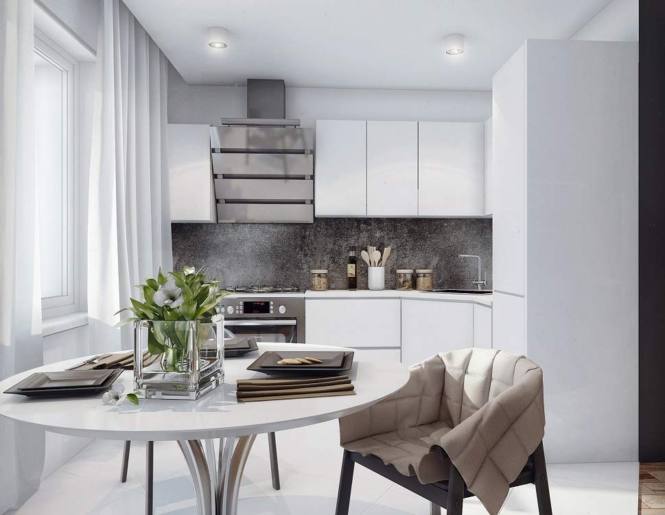 Выбор кухонного гарнитура по стилю для маленькой кухни