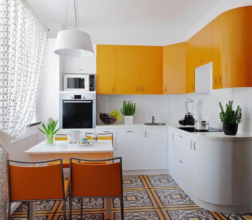 Выбор кухонного гарнитура по цвету для маленькой кухни