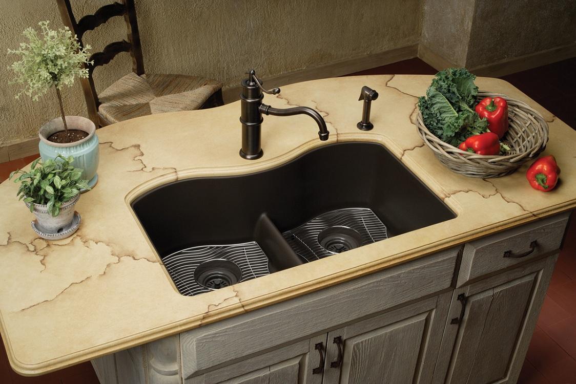 Выбор кухонной мойки из искусственного камня